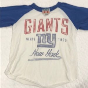 29303f833 Junk Food boys NY Giants raglan long sleeve shirt.